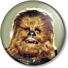 "Chewbacca 25mm 1"" Pin Button Badge Star Wars Character Movie Film Geek Chewie"
