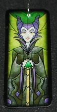 Disney Villain Maleficent Sleeping Beauty Stained Glass Magnet Pendant Necklace