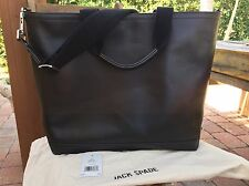 Jack Spade Men's Dipped Leather Choc/black Tote Leather Bag NWT $498MRSP