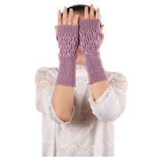 Womens Gloves Knitted Gloves Ladies Long Mitten Fingerless Winter Soft Warm Nice