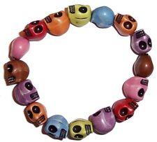 Bracciale Teschio Multicolore i Mala Rosari di preghiera resina GOTHIC Goth Unisex