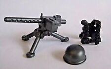 BrickArms M1919 Machine GUNNER PACK for WW2 Lego Minifigure -Gun, Vest, Helmet