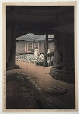 JAPANESE KAWASE HASUI WOODBLOCK PRINT THE CHUNUM TEMPLE, MT. CHIRI, KOREA(CHOSEN