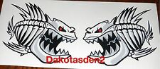 "(2) Skeleton Fish Vinyl Decals for Boat Car Truck - Fishing  6"" x 5.75"""