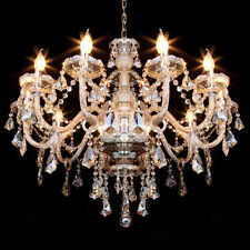 Elegant Crystal Candle Decoration Chandelier Luxury Pendant Ceiling Lamp 10Light