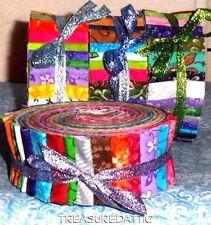 "Honey Bun Fabric Strips Roll Quilting 20~ Strip Distinctive Honeybun 1.5"" Strips"