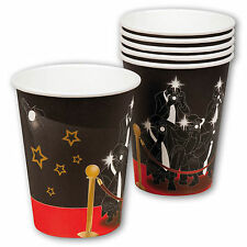 6 Hollywood VIP Stars Awards Birthday Party 250ml Disposable Paper Cups