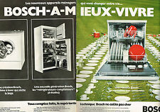 PUBLICITE ADVERTISING 034  1973  BOSCH  lave vaisselle  ( 2 pages)