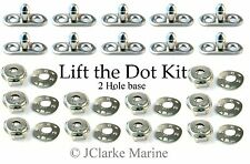 Boat Cover/Canopy Fittings - Lift the dot kit (Socket, plate, 2 hole base stud)
