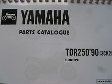 YAMAHA TDR 250 3CK2 90 PARTS LIST MANUAL CATALOGUE 103CK-300E1 YPVS