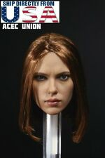 1/6 Black Widow Scarlett Johansson Head Sculpt 6.0 Brown For Hot Toys Phicen USA