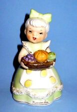 VINTAGE NAPCO NOVEMBER FALL BIRTHDAY GIRL MONTH BELL FIGURINE JAPAN VGC