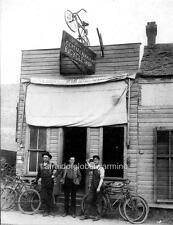 "Photo ca 1909 Shawnee Oklahoma ""Bicycle Shop"""