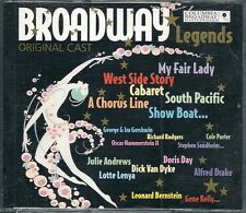 COFFRET 2 CD 35 TITRES--BROADWAY LEGENDS--CABARET/MY FAIR LADY/CHORUS LINE...