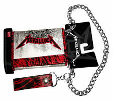 "METALLICA ""SMUDGE KEEPER"" FAUX LEATHER TRIFOLD CHAIN WALLET NEW OFFICIAL"