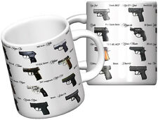 Top 20 Most Popular Handguns Funny Pistol Gun Coffee Mug - 2nd Ammendment!!!