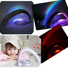 Romantic LED Rainbow Multi-color Projector Night Lights Battery Power Kid's Gift