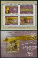 Rumänien 2006 Mi. Block 370 + 371 ** Traian Vuia,Motorflug,Flugzeug,Flugpionier