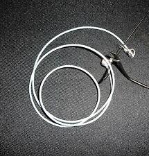 """2mm Gafas Cadena Cordón Soporte De Cuero Blanco 26"""" de largo para la persona más alto"""