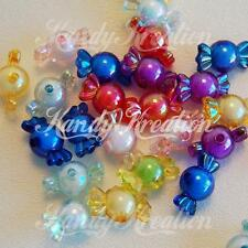 25 Candy Shaped Beads 22mm 12mm AB Plastic Colorful for Kandi Kawaii Deco