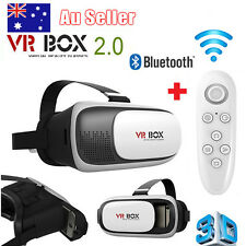 VR BOX Virtual High 3D Glasses Goggles Reality Headset Bluetooth Remote Gamepad
