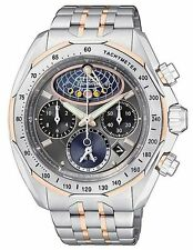 Citizen Signature Mens Moon Phase Flyback Chronograph Watch AV3006-50H