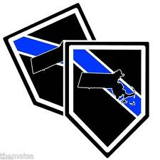 POLICE STATE MASSACHUSETTS THIN BLUE LINE BUMPER CAR STICKER DECAL MADE IN USA