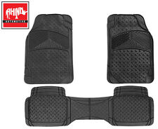 HYUNDAI TERRACAN 03-07 CANBERRA 3 PIECE HEAVY DUTY RUBBER CAR MATS