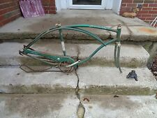 "VINTAGE SCHWINN ""AMERICAN"" FRAME/PARTS 1962 26"" BICYCLE FRAME DIRTY/GOOD"