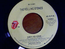 "THE ROLLING STONES 45 RPM ""She's So Cold"" & ""Send it to Me"" VG- condition"