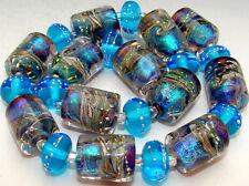 """Sistersbeads """"Santa Catalina"""" Handmade Lampwork Beads"""