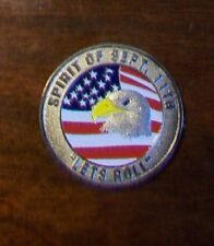 Spirit of Sept. 11th Let's Roll, Let Freedom Ring USAF Challenge Coin