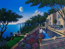 "JIM BUCKELS ""VILLA CAPULET"" Hand Signed Large Limited Edition Serigraph"