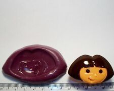 Dora Explorer silicone mould Sugarpaste flower paste cup cake topper icing