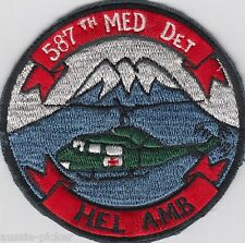 US Army 587th Medical Detachment Japan Patch Medivac Helicopter Ambulance