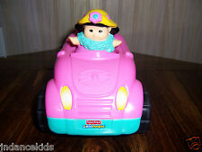 Fisher Price Little People Pink Car & Girl Music & Sounds Mattel 2009
