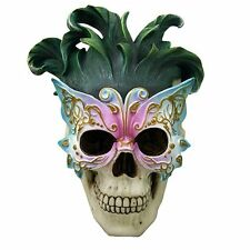 Masquerade Butterfly Ball Mask Skull Wall Plaque Skull Decor Mardi Gras