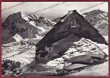 BIELLA OROPA 127 MONTE MUCRONE - SCI SKI - SPORT Cartolina FOTOGRAF. viagg. 1956