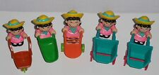 McDonalds Peanuts Farm Playset: Lucy's & Cart Accessories - 5 Lucy's and 5 Carts