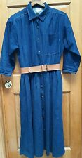 TALL GALS! SNAP FRONT COTTON  DENIM DRESS   SIZE 16   by APOSTROPHE