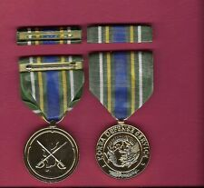 New Korea Defense Service Anodized medal with ribbon bar