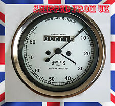0 - 80 / Mph white Smith Replica Speedo meter Enfield BSA Norton British Bike