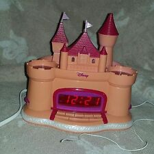 Pink DISNEY Princess Castle Clock/Radio Star Projection Cinderella Lullaby