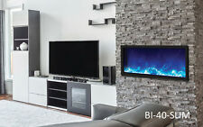 Amantii Bi-40-Slim Panorama Series Linear Electric Fireplace Built In Fire & Ice