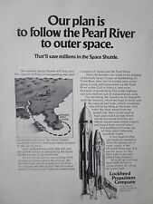6/1973 PUB LOCKHEED PROPULSION SPACE SHUTTLE PEARL RIVER NASA MTF ESPACE AD