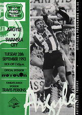 1993/94 Plymouth Argyle v Swansea City, Autoglass Trophy, PERFECT CONDITION