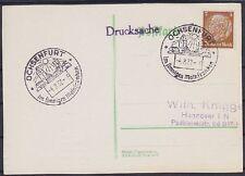 DR Mi Nr. 513 EF Drucksache mit SST Ochsenfurt Mainfranken - Hannover 1937