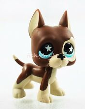 Brown Great Dane Dog Puppy Blue Star Eyes Hasbro Littlest Pet Shop LPS 817 New
