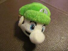 Mario Bros. Luigi (face) Plush Key Chain (NEW)