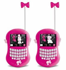 Barbie Walkie Talkie Ages 3+ New Toy Mobile Indoor Outdoor light Girls Gift Talk